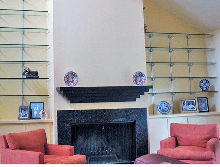 Rakks Wall Shelving in Private Residence, Prospect, KY