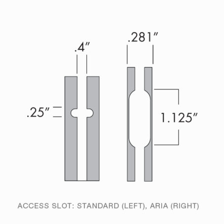 Technical Drawing of Wall Mounted Standard Access Slot