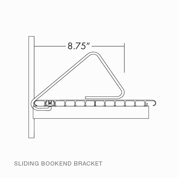 Sliding Bookend Bracket Rakks Store