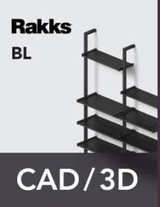 Rakks BL Pole Shelving CAD/3D