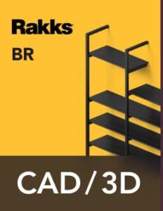 Rakks BR Pole Shelving CAD/3D