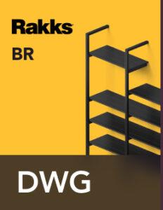 Rakks BR Pole Shelving DWG Files