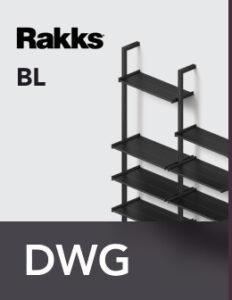 Rakks BL Pole Shelving DWG Files