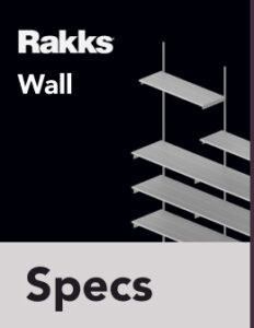 Rakks Wall-mounted Shelving Specifications